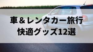 【車&レンタカー旅行】快適便利グッズ12選!絶対外せない持ち物リストを紹介します!