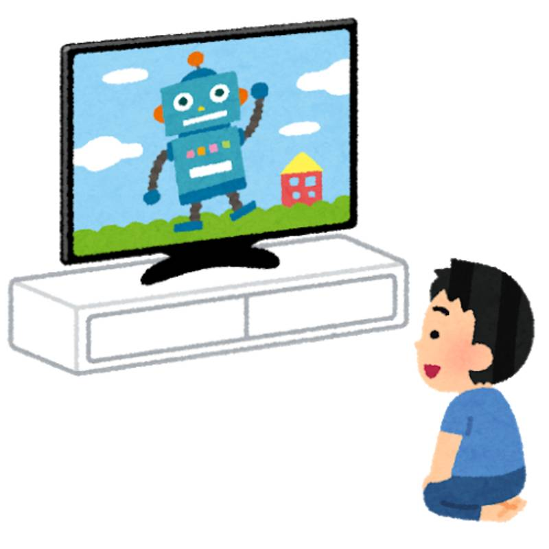 テレビを見る人の画像